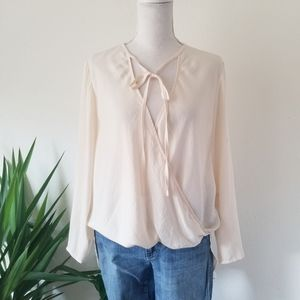 Silence + Noise Surplice Tie Front Tunic Top XS